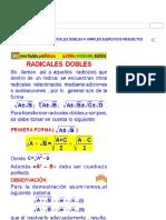 Transformación de Radicales Dobles a Simples Ejercicios Resueltos PDF