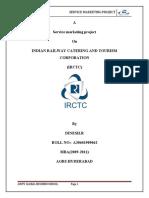 Service Marketing Project on IRCTC