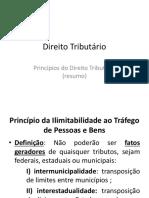 Direito Tributário - Princípios do Direito Tributário