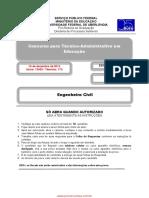 Concurso Prova Engenheiro Civil UFU