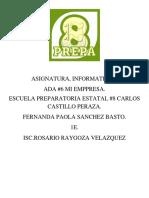Mi Empresa, Fernanda Paola Sanchez Basto