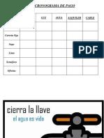 CRONOGRAMA DE PAGO