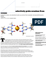 Chelating agent selectively grabs uranium from oceans