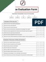 Cousre Evaluation