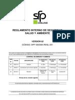 SSA MAN 001 Reglamento Interno de Seguridad Salud y Ambiente 2018