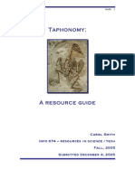 Taphonomy Bibliography