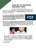 Radiación de Los Teléfonos Celulares y Wifi