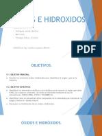 Exposición Óxidos e Hidróxidos