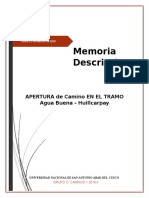 Caminos 1 memoria descriptiva carat