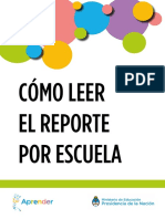 Guia Como Leer El Reporte Por Escuela
