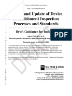 review-update-device-estab-inspection-processes-standards-draft-guidance