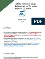 Tuning of PID controller using Ziegler-Nichols method for DC Motor Speed Control