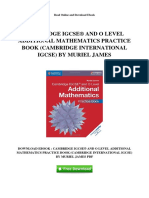 Cambridge Igcse Registered and o Level Additional Mathematics Practice Book Cambridge International Igcse by Muriel James