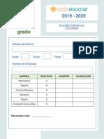 Examen Ciclo 1 a Mensual Sexto Grado 19-20