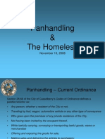 11102008 Panhandling and Homeless Presentation
