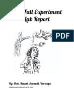 free-fall lab report