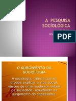 A Pesquisa Socíológica