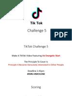 tiktok challenge 5 speech communication