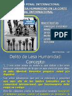 DELITOS DE LESA HUMANIDAD EN LA CORTE PENAL INTERNACIONAL