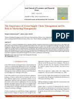 The Importance of Green Supply Chain Management and Its Role in Marketing Management[#354237]-365365