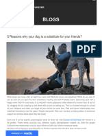 5 Reasons Why Your Dog is a Substitute for Your Friends