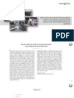 Observatorio de la eficiencia de las políticas  activas e instrumentos de desarrollo del empleo en las Comunidades Autónomas españolas