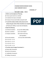 Holiday Worksheet Phy Edu 12th