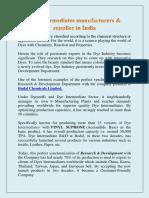 Dye intermediates manufacturers in India | Bodal Chemical