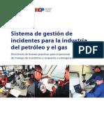 Manual participante Sistema de gestion de incidentes para la industria del petroleo y gas