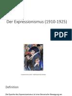 Der Expressionismus (1910-1925)