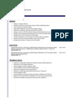 Resume Debojit August 2019