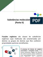 Substâncias Moleculares II