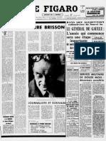 La Mort de Pierre Brisson Dans Le Figaro