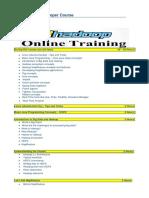 Hadoop Training Course Contents 1