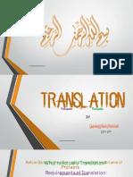 Translation in Prokaryotes and Eukaryotes