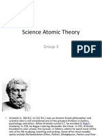 SCIENCE ATOMIC THEORY
