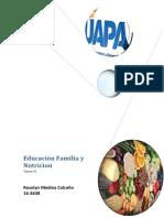 Tarea 6 de educacion familia y nutricion