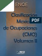 Clasificacion Mexicana de Ocupaciones (CMO) Vol2