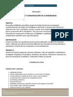 PROGRAMA LIDERAZGO Y COMUNICACION EN LA EMERGENCIA 24 sep