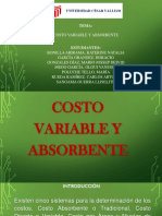EXPOSICION COSTO VARIABLE Y ABSORBENTE