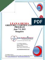 LEAN 6 Sigma Green Belt Certification Brochure
