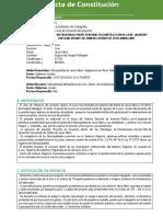 Acta de Constitucion Del Proyecto 2019-Puente