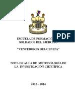 Nota Aula Metodologia de Investigación Cientif