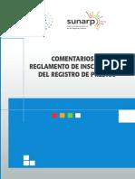 Comentarios al reglamento de inscripciones del registro de predios SUNARP