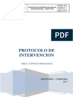 Protocolo de Intervencion Fonoaudiologia Cerfip