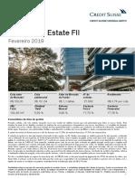 Relatorio CSHG Real Estate FII 2019 02