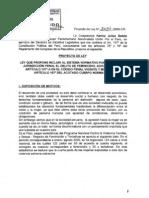 Proyecto de Ley contra el feminicidio (PL No. 03654)