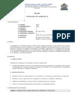 SILABO -04410 - TECNOLOGÍA DE ALIMENTOS II
