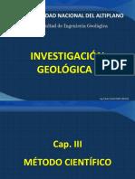 CAP. III  EL MÉTODO CIENTÍFICO