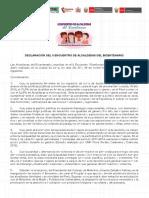 DECLARACIÓN DEL II ENCUENTRO DE ALCALDESAS DEL BICENTENARIO